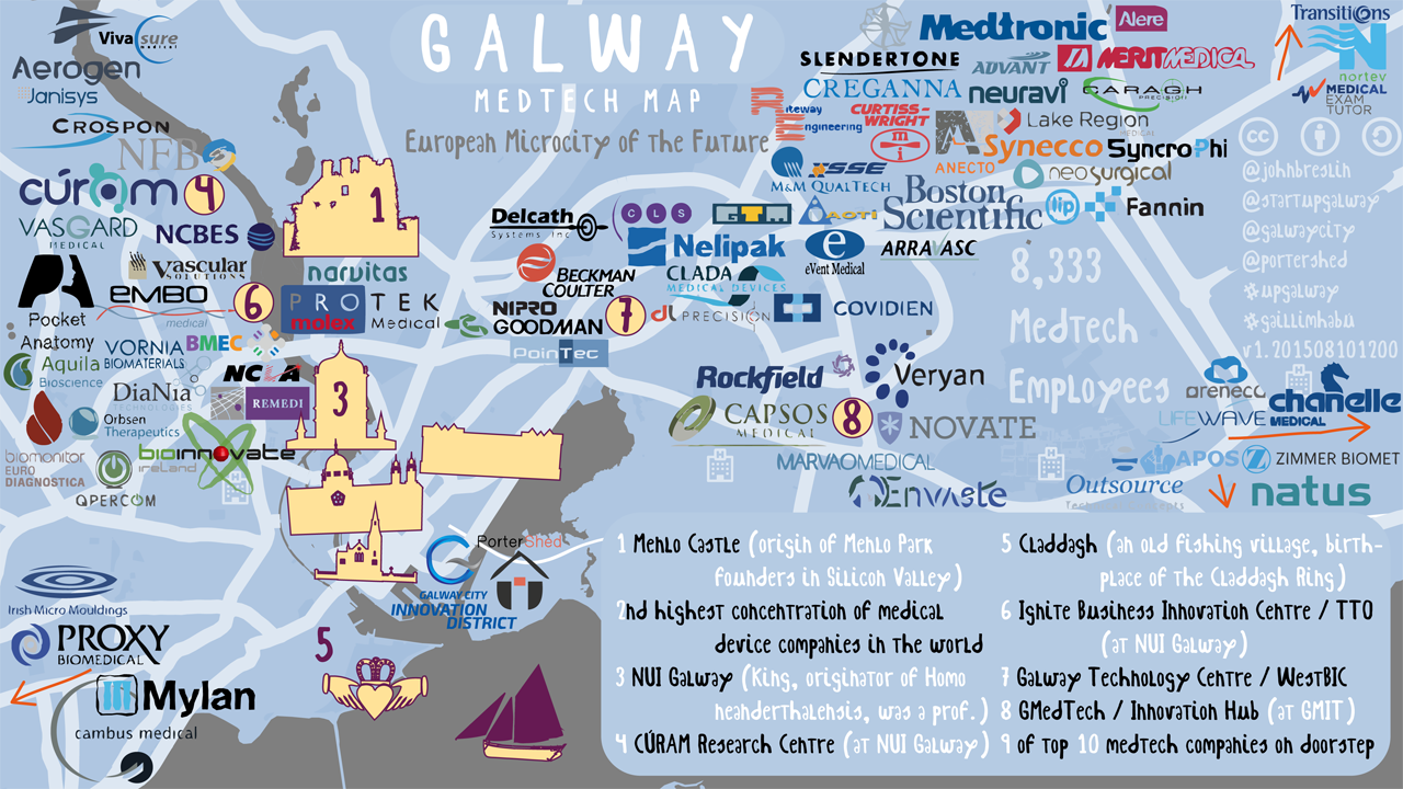 Pdf Map Of Ireland.Galway Medtech Map Ireland S Medical Device Cluster Technology Voice